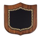 Walnut Shield Corporate Plaque Achievement Awards