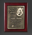 Cherry Finished Panel and Gold Tone Plate Achievement Awards