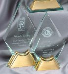 Crystal Spear On Base Large Achievement Awards