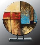 Round Art Glass Award Artistic Glass Awards