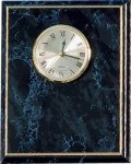 Black Marble Finish Clock Plack Marble Awards