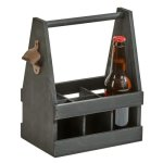 6 Bottle Beverage Caddy with Opener Men's Gifts
