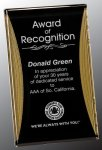 Black/Gold Standing Reflection Acrylic Award Recognition Plaque Sales Awards