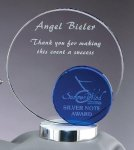 Crystal Blue Round Sales Awards