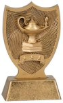Plastic Lamp of Knowledge Shield Award Scholastic Trophy Awards