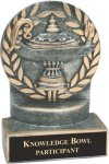 Lamp of Knowledge - Wreath Resin Trophy Scholastic Trophy Awards