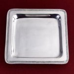 Square Beaded Platter Serving Pieces